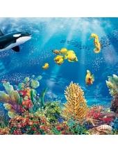 """Салфетка для декупажа SLOG024001 """"Морские обитатели"""", 33х33 см, Германия"""