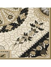 """Салфетка для декупажа SLOG024401""""Узоры, золото с черным"""", 33х33 см"""