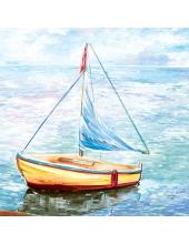 "Салфетка для декупажа SLOG025701 ""Море, парус"", 33х33 см, Германия"