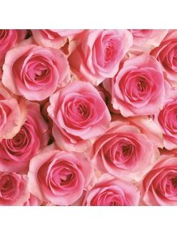 Салфетка для декупажа Розы розовые, 33х33 см, POL-MAK