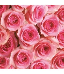 "Салфетка для декупажа SLOG028801 ""Розы розовые"", 33х33 см, POL-MAK"