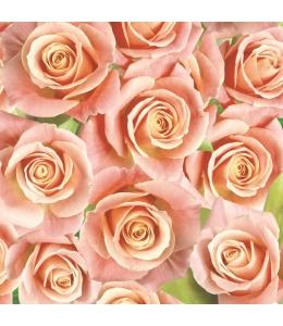 "Салфетка для декупажа SLOG028901 ""Розы оранжевые"", 33х33 см, POL-MAK"