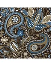 """Салфетка для декупажа SLOG033501 """"Черно-синий орнамент"""", 33х33 см, POL-MAK"""