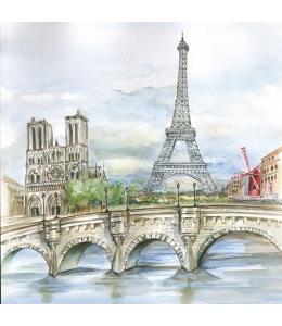 """Салфетка для декупажа SLOG033901 """"Париж"""", 33х33 см, POL-MAK"""