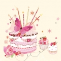 "Салфетка для декупажа SLOG034201 ""Торт со свечами"", 33х33 см, POL-MAK"