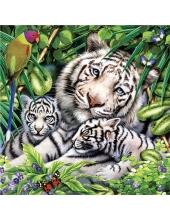 """Салфетка для декупажа SLOG034801 """"Белые тигры"""", 33х33 см, POL-MAK"""