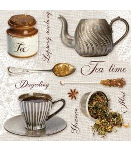 """Салфетка для декупажа SLOG035801 """"Время чая"""", 33х33 см, POL-MAK"""