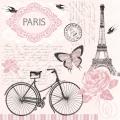 "Салфетка для декупажа SLOG036401 ""Письма из Парижа"", 33х33 см, POL-MAK"