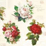 "Салфетка для декупажа SLOG037101 ""Букеты с розами"", 33х33 см, POL-MAK"