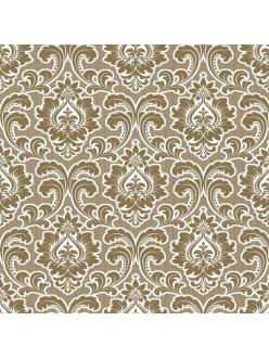 Салфетка для декупажа Орнамент барокко золотой, 33х33 см, POL-MAK