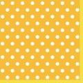 "Салфетка для декупажа SLOG038305 ""Горошек на желтом"", 33х33 см, POL-MAK"