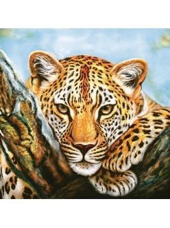 Салфетка для декупажа Леопард, 33х33 см, POL-MAK