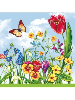 """Салфетка для декупажа Весенние цветы"""", 33х33 см"""