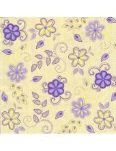 "Салфетка для декупажа SLWI000504 ""Цветы и полоски"", 33х33 см, POL-MAK"