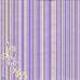 Салфетка для декупажа Цветы и полоски, 33х33 см, POL-MAK