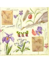 "Салфетка для декупажа SLWI002201 ""Цветы, акварель"", 33х33 см"