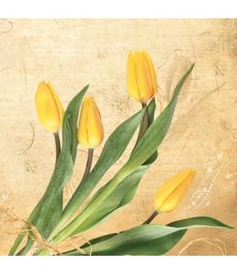 "Салфетка для декупажа SLWI004401 ""Тюльпаны"", 33х33 см"