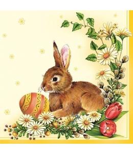 """Салфетка для декупажа SLWL000701 """"Пасхальный кролик"""", 33х33 см, POL-MAK"""