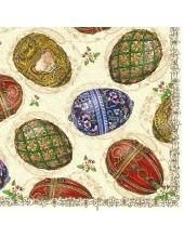 """Салфетка для декупажа SLWL004401 """"Пасхальные яйца"""", 33х33 см, Германия"""