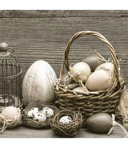 """Салфетка для декупажа SLWL006601 """"Тюльпаны и птичьи яйца"""", 33х33 см, POL-MAK"""