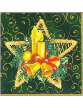 "Салфетка для декупажа PW-86555 ""Звезда, Рождество"", 25х25 см"