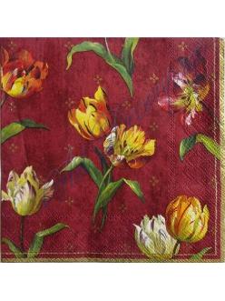 "Салфетка для декупажа Тюльпаны"", 33х33 см"