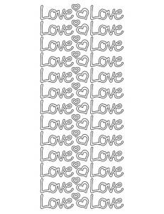 """Наклейки контурные """"Love"""" с эффектом металлик, KNORR prandell"""