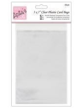 Упаковка для открыток - прозрачные пакеты с клеевым клапаном 50 шт., 142 x 193 мм, DoCraft