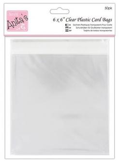 Упаковка для открыток - прозрачные пакеты с клеевым клапаном 50 шт., 167 x 167 мм, DoCraft