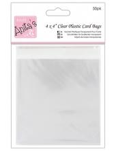 Упаковка для открыток - прозрачные пакеты с клеевым клапаном 50 шт., 120 x 120 мм, DoCraft