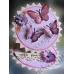 """Объемные наклейки """"Розовые бабочки"""" с серебром, Anita`s (Великобритания)"""