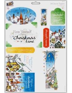 """Набор высечки для скрапбукинга """"Заснеженное Рождество"""", Michael Powell, DoCrafts"""