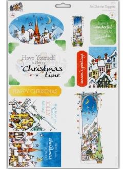Набор высечки для скрапбукинга Заснеженное Рождество, Michael Powell, DoCrafts