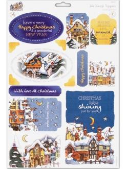 Набор высечки для скрапбукинга Новогодние фонарики, зимняя коллекция Michael Powell, А4,DoCrafts