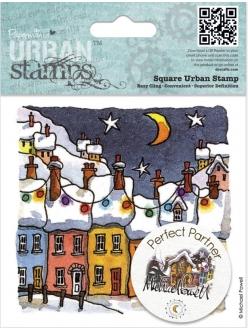 Штамп новогодний для скрапбукинга Рождественские фонарики Michael Powell, 9,5х9,5 см, DoCrafts