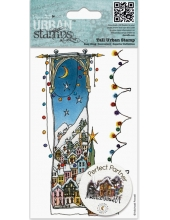 "Штамп новогодний резиновый MPL 907214 ""Заснеженное Рождество"" Michael Powell, 9х14,5 см, DoCrafts"