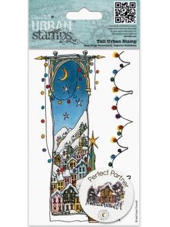 Штамп резиновый для скрапбукинга Заснеженное Рождество Michael Powell, 9х14,5 см, DoCrafts