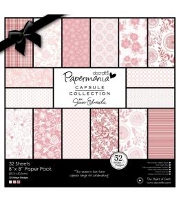 Набор бумаги для скрапбукинга, коллекция Parkstone Pink, цвет розовый, 20,3х20,3 см, 160gsm, Papermania