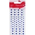 Стразы клеевые Звездочки, сердечки, круглые, цвет синий, 104 шт., DoCrafts