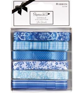 Набор лент, коллекция Burleigh Blue, 6 штук по 1 м, DoCrafts