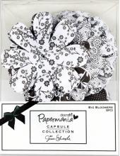 Набор декоративных цветов Bexley Black, черный с белым, Papermania