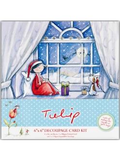 Набор для изготовления новогодней открытки В ожидании Санты, Tulip Christmas