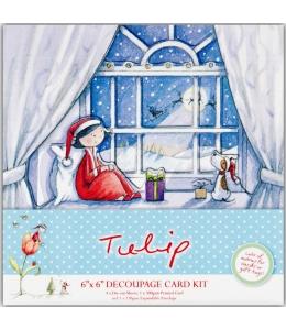 """Набор для изготовления новогодней открытки """"В ожидании Санты"""", Tulip Christmas, DoCrafts"""