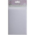 """Набор заготовок для открыток с конвертами TULIP """"Бабочки"""", цвет белый, формат А6, 4 шт, DoCrafts"""