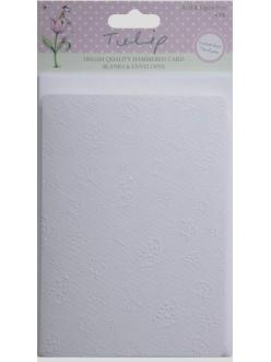 Заготовки для открыток с конвертамиTULIP Бабочки, цвет белый, формат А6, 4 шт.