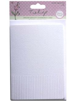 Заготовки для открыток с конвертамиTULIP Вертикальные полоски, цвет белый, формат А6, 4 шт.