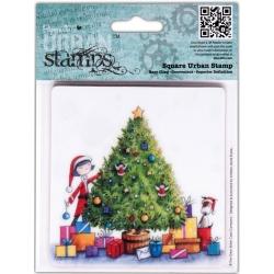 Новогодние и рождественские штампы и трафареты