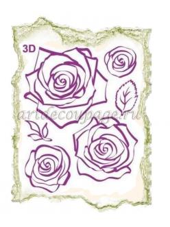 Штампы силиконовые Viva Silikon Stempel 3D25 Розы, 14х18 см
