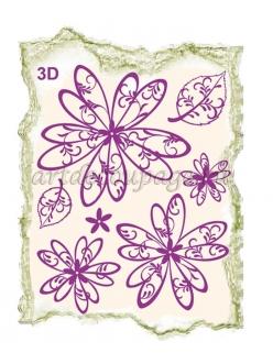Штампы силиконовые Viva-Silikon-Stempel 3D27 Ромашки для 3D элементов, 14х18 см