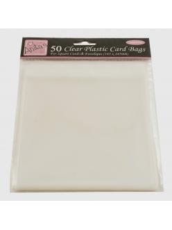 Упаковка для открыток прозрачные пакеты с клеевым клапаном 50 шт., 145х145 мм, DoCraft